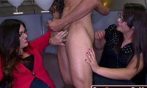 35 Stupid  Strippers getting sucked and fucked elbow CFNM orgy 1