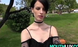 Skeletal girl Alex Harper likes rosiness