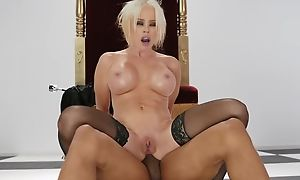 Lap MILF llano stockings gets fucked in the arse