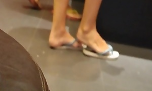 Candid Sexy Teen Feet Soles and Legs in the tatoo misguide