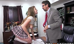 Wild college babe Lena Paul gets naughty with will not hear of man