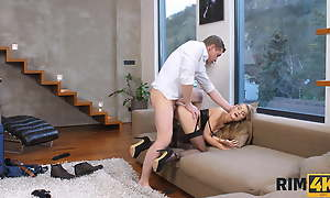 RIM4K. Slender belle meets her man plus commons him out right