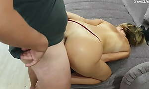 He fucks their way deep in the ass. Anal creampie. FeralBerryy