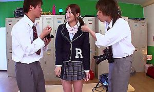 Erika Shibasaki in Teen Schoolgirl Trinity - TeensOfTokyo