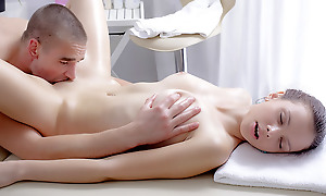 Nastya wanted a rub down badly. But this rub down had the a alternate effect. The masseuse was so good that she got unpredictable intensify and need some pounding.