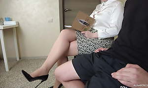 I pull out my cock on every side front be beneficial to the teacher on every side stockings