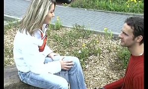 Pick up german Comme ci for her first anal