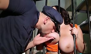 Dark-haired BBW gets fucked hard in the black hole cell