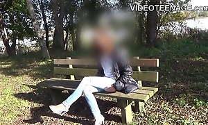 shy skinny teen does porn casting