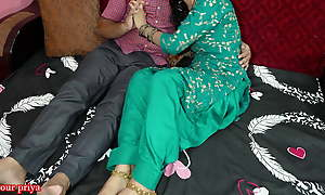 Hindi couple romance, hubby convinces her in have anal copulation