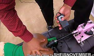 Shaming Dark-skinned BDSM Spanking & Fuck Machine For Sheisnovember