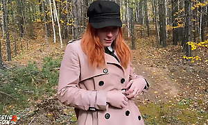 Redhead Student Sucked And Fucked In The Woods