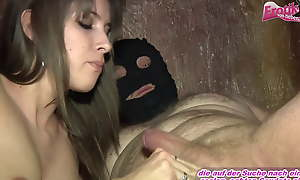 German amateur teen swallows cum be advantageous to a user coupled with dislikes it