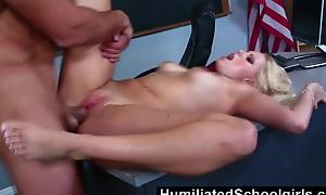 HumiliatedSchoolgirls  Vanessa shamelessly fucks to win passing grades
