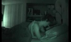 Amateur couple night vision sex