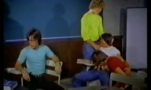 Lecture-room Orgy from KEPT AFTER Instructor (1982)