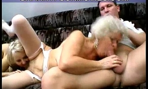 wild randy amateur granny blows young