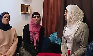 Muslim teen link up and BFFs fuck a BBC elbow bachelor abstruse