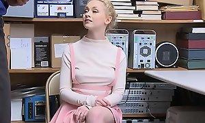 Cute Teeny-weeny Blonde Teen Shoplifter Fucked