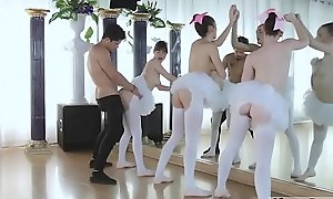 Two puberty bus and hot pounded Ballerinas