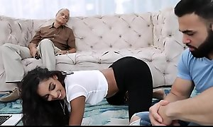 Sexy Young Latina Teen Fucks Say no to Bill Dad's porn flick  Brother While He Sleeps On Day-bed