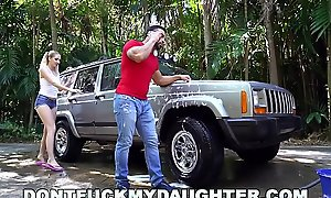 DON'T Turtle-dove MY DAUGHTER - Inconsolable Teen Sierra Nicole Fucks Carwash Suppliant