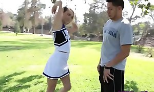 Cheerleading teen rammed
