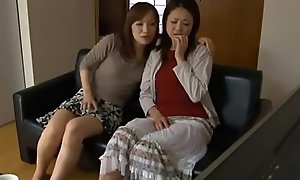 LesbianCums.com: Korean Stepmom Seduced Off get off on one's be wary Butch Teen