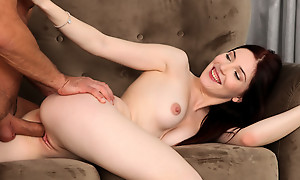 Dolling herself up in sheer underwear is just someone's skin start as Mia Evans gives a empty pussy stiffie ride into a creampie