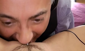 Teen gets licked