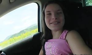 Teen Anita B flashing and fucking around public with a stranger