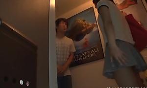 Asian teen Koharu Aoi gets hardcore fucking and creamed pussy