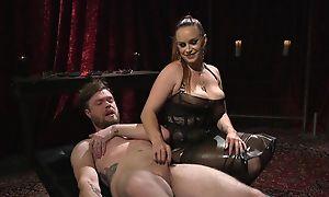 Dutiful guy gets anally fucked by horny mistress