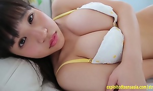 Yui Koharu Jav Teen Debut Massive 36 Inch Tits Teases Stripping And Bouncing On Workout Ball Outrageous Udders