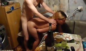 TEEN GETS DRUNK At one's fingertips RUSSIAN Strip Plus GETS FUCKED