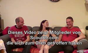 Shy 18yo German Upper-cut Schoolgirl unconditional Homemade Threesome