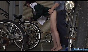 Jav Be featured Nizumi Maika Gets Attacked Round Bicycle Shed Really Cute Teen Fucked Hard Round Her Uniform