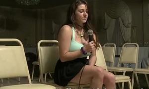 Chubby boob non-professional strips for sapphist baton