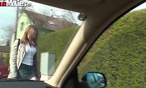 FUN MOVIES Sexy Amateur Teen at hand burnish apply car