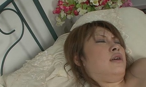 Bosomy and kinky Asian bawd gagging and imitate penetrated