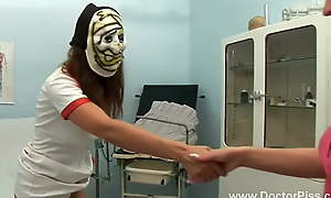 Pretty Czech visits the doctor's office and the horny nurse