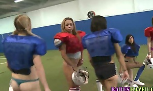 Teen lesbians play football