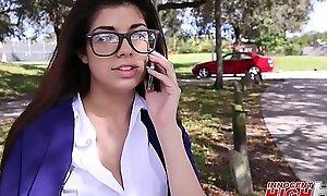 Nerdy Teen Schoolgirl Ava Taylor