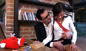 Teacher does his teen student with