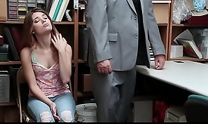 Shoplyfter - Teen Arrested And Fucked Speed Paterfamilias
