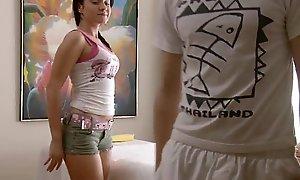 RubATeen Downcast smalltits European teen Danaya massage parlor fucked