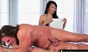 Teen massage gives stud becoming ending 17