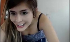 Cute colombian masturbating alongside camchat