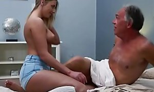 Comme ‡a Teen Fucked By Flimsy Aged Man she likes getting sexual relations blowjobs and cum