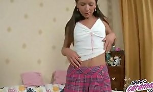 Teen in the air coton wheeze crave fingering increased by anal toying.